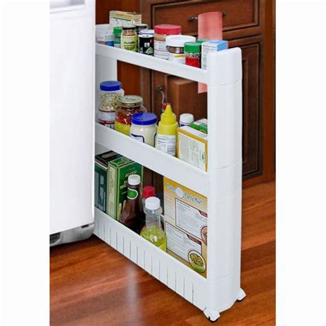 Slide Out Storage Tower in Pull Out Pantry Organizers
