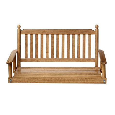 swing bench home depot 2 person maple porch swing 204psm rta the home depot