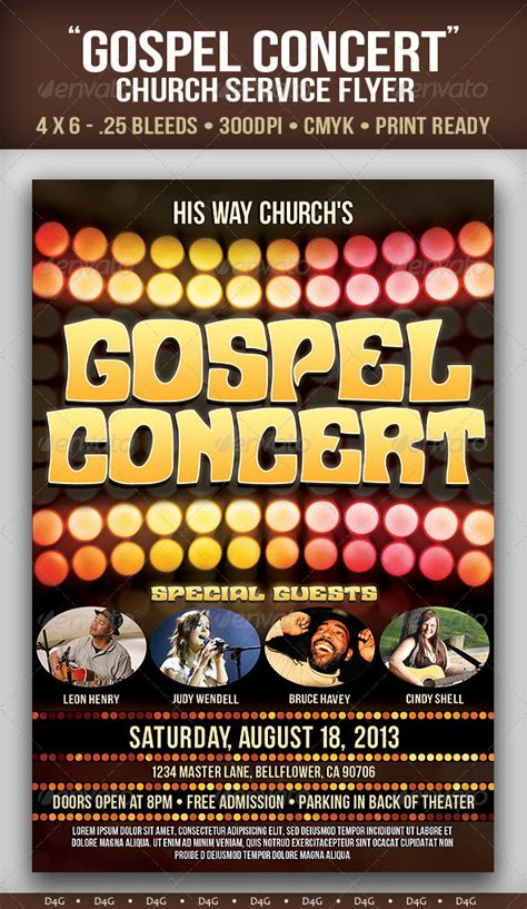Gospel Sing Flyer 187 Dondrup Com Gospel Church Flyer Template