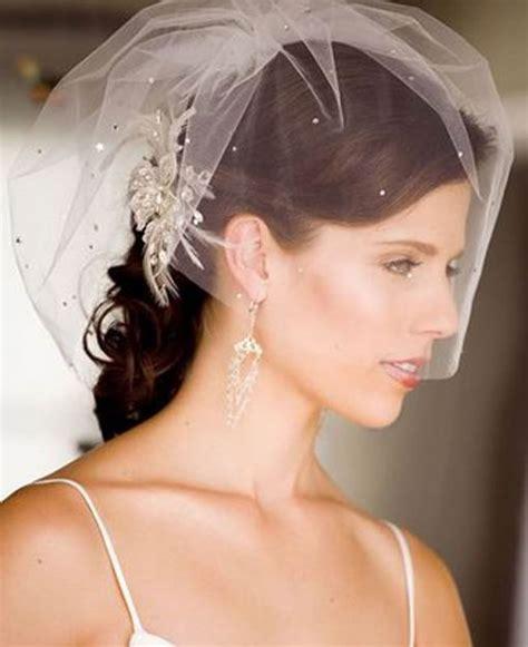 braut kurze haare schleier veils for hair wedding hairstyles for bridals