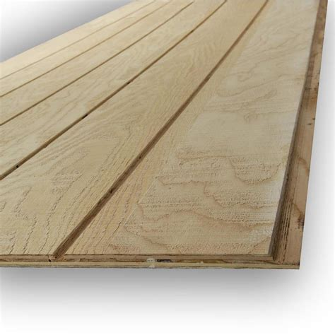 Wood Panel Curtains Shop Douglas Fir Siding Wood T1 11 Untreated Wood Siding Panel Common 0 594 In X 48 In