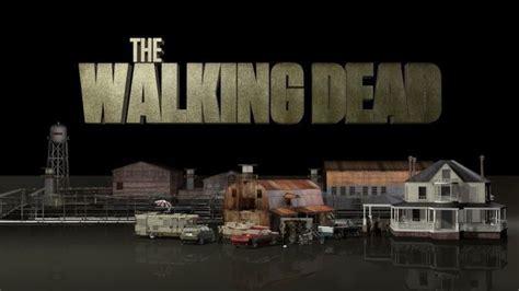 Walking Dead Barn Door Walking Dead Set 3d Model C4d Stl