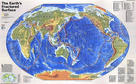 earths map the earths fractured surface map