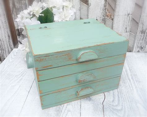 Shabby Chic Office Desk Rustic Shabby Chic Turquoise Desk Office Organizer 78 00 Via Etsy Home Office