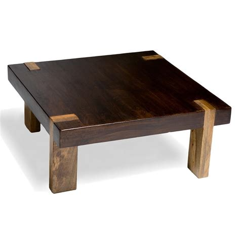 Rustic Contemporary Coffee Table Berkeley Solid Wood Chunky Contemporary Rustic Coffee Table