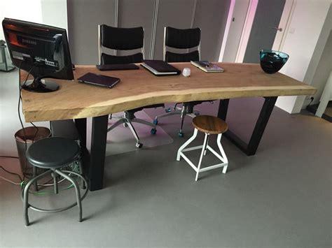tafel met stalen onderstel mk creations