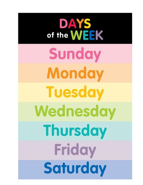 color of the day color my classroom days of the week and months of the