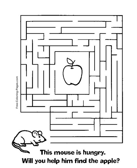 printable maze games free coloring pages of corn maze