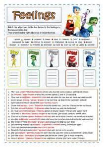 inside out feelings and emotions worksheet free esl
