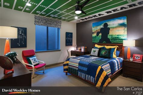 football room i like the football field on the ceiling of this s bedroom sports crafts