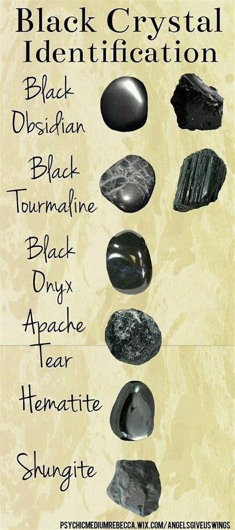 types  black crystals stones  crystals
