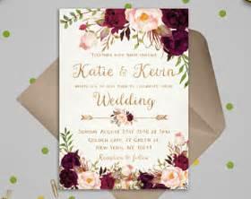 Etsy Wedding Invitation Template by Wedding Invitation Etsy