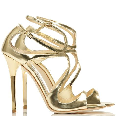 strappy sandals jimmy choo lance gold mirror strappy sandals cricket