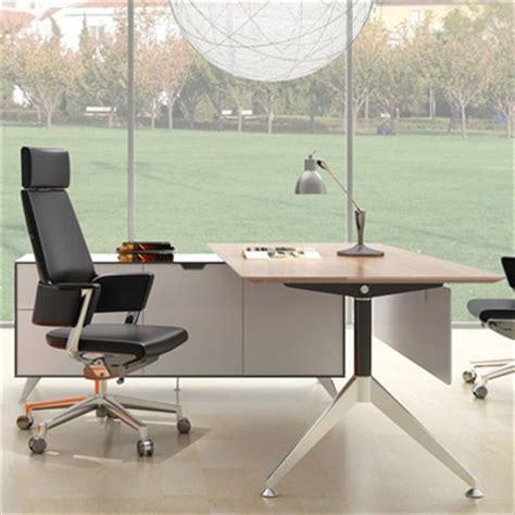 potenza desk with return melamine beech premier office