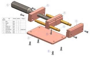 Bench Vice Parts Woodwork Wood Bench Vise Parts Plans Pdf Download Free