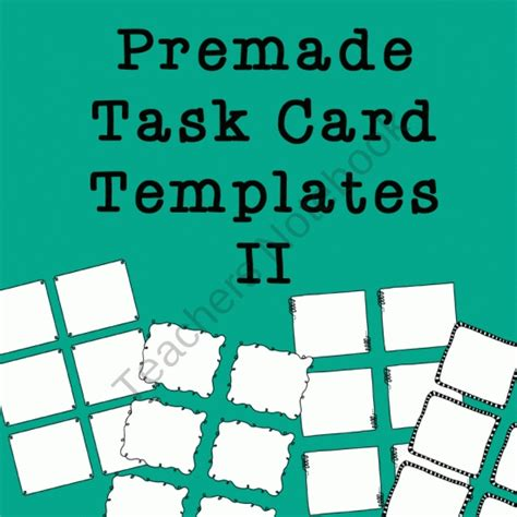 free task card template 18 best images about free task card templates on