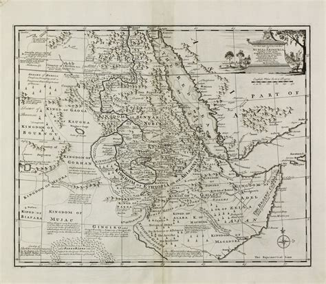 africa map 1747 a new and accurate map of nubia abissinia together with
