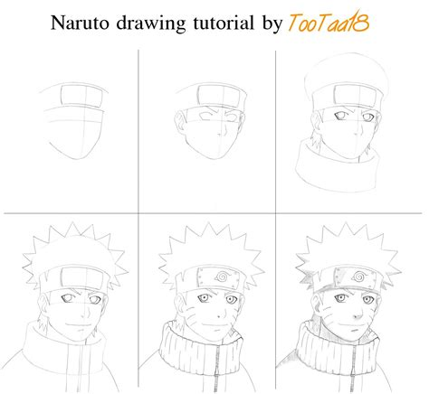 Tutorial Naruto Drawing | naruto drawing tutorial by tootaa18 on deviantart