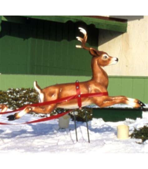 fiberglass 12 reindeer fiberglass fawn reindeer leaping all american co