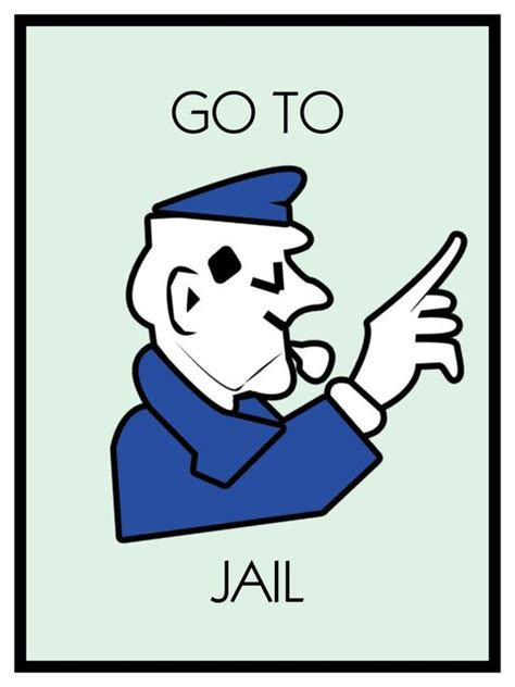 printable jail cards monopoly poster and poster prints on pinterest