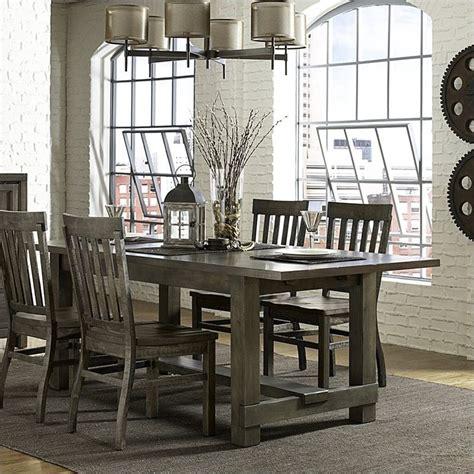 magnussen karlin wood rectangular dining table  grey
