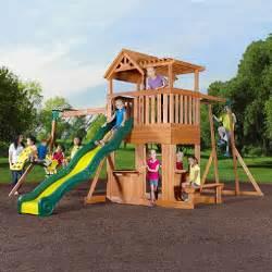 Backyard Discovery Swing Thunder Ridge Cedar Swing Set Play Set Sam S Club