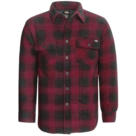 Quilted Shirts For by Dickies Polar Fleece Shirt Jacket Quilted Lining