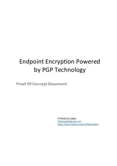 technology proof of concept template symantec endpoint encryption proof of concept document