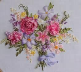 букет роз вышивка лентами схемы
