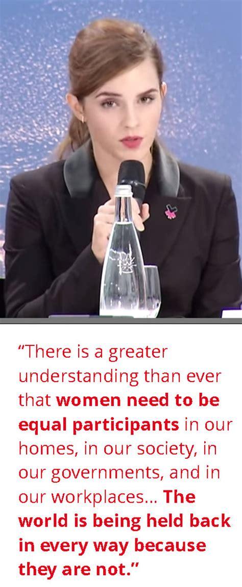 emma watson leadership women s leadership taking the heforshe caign a big step