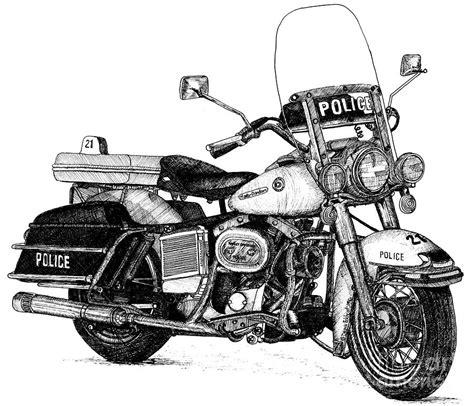 Harley Davidson Drawings by Hog Harley Davidson Motorcycle Drawing By Boyer