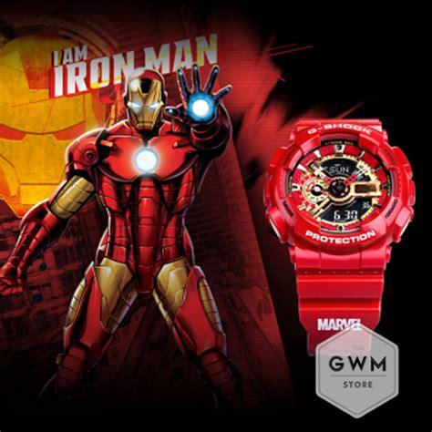 casio shock marvel avengers collection iron man ga