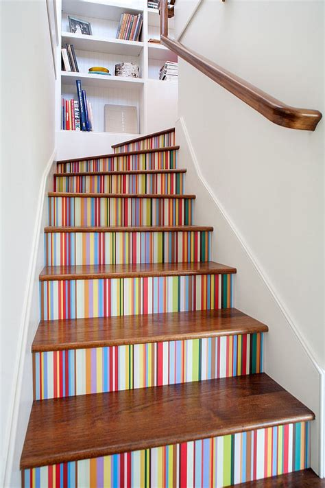 stair decor 16 fabulous ideas that bring wallpaper to the stairway