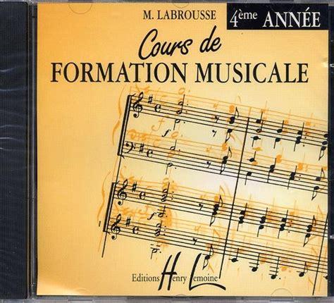 0043037755 cours de formation musicale pour cours de formation musicale volume 4 formation