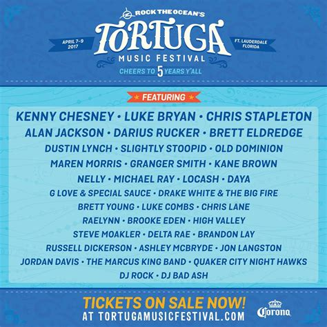 country fan 2017 lineup tortuga festival lineup announced for 2017