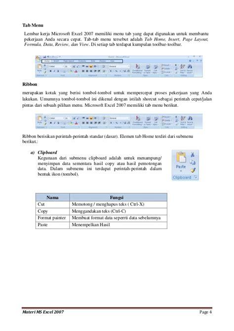 tab page layout adalah menu dan ikon microsoft excel 2007