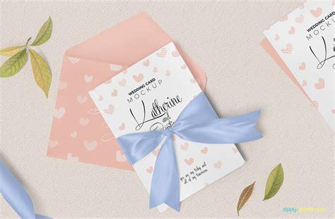 Wedding Invitation Mockup Free by Wedding Invitation Card Mockup For Free Designhooks