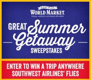 How To Use World Market Gift Card Online - world market s great summer getaway sweepstakes win 4 000 more