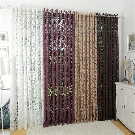 luxury fashion style semi blackout curtains kitchen
