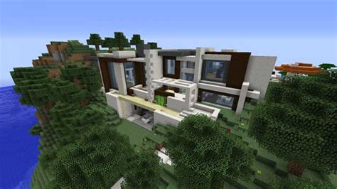 minecraft redstone house modern redstone smart house map for minecraft 1 8 9