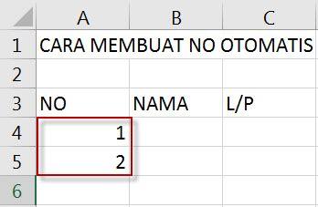 cara membuat nomor invoice otomatis cara membuat nomor otomatis di excel 2016 learning is an