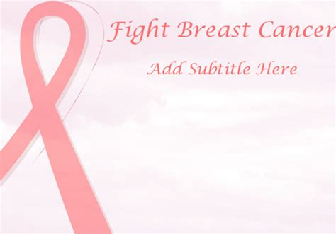 Breast Cancer Template Breast Cancer Powerpoint Template