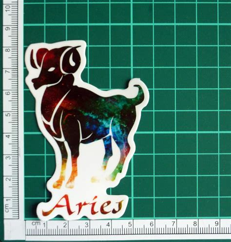 aries color aries zodiac sign astrology colors on clear sticker decal