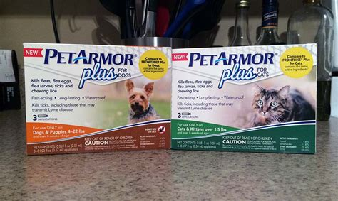 petarmor plus for dogs flea and tick why different products for different pets