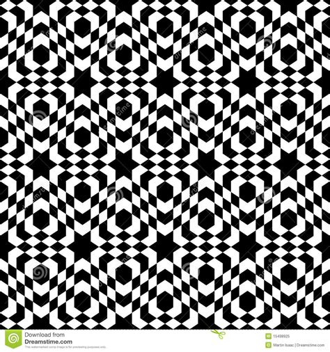 optical pattern black and white optical tile pattern stock vector image of background
