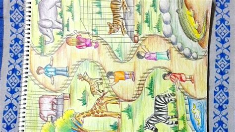 Drawing Zoo by How To Draw Zoo Step By Step Drawing Of Zoo Animals
