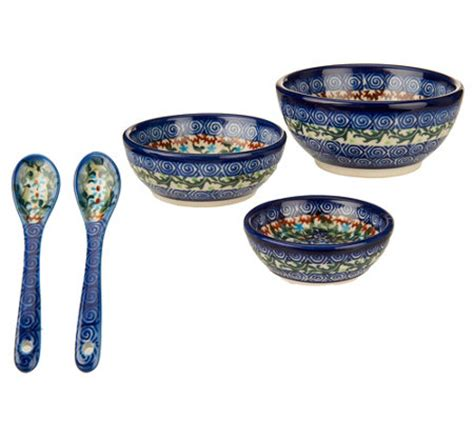 Set Lidia Limited lidia s pottery 3 bowl set with utensils