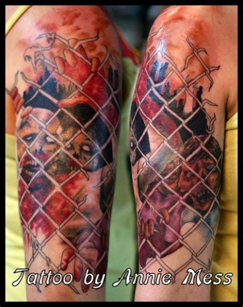 annie mess tattoo 10 the walking dead tattoos