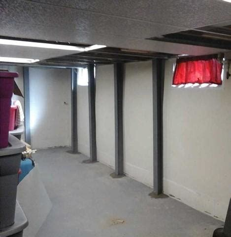 basement steel beams ohio basement authority foundation repair photo album