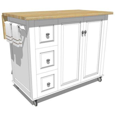 Kitchen Movable Island by Mobile Kitchen Island 3d Model Formfonts 3d Models